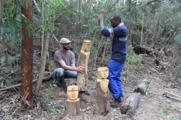 Installing_wooden_figures